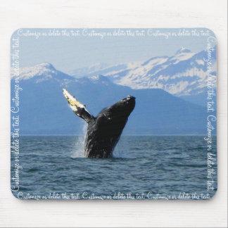 Humpback Whale Breaching Customizable Mousepads