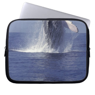 Humpback whale breaching (Megaptera Laptop Sleeve