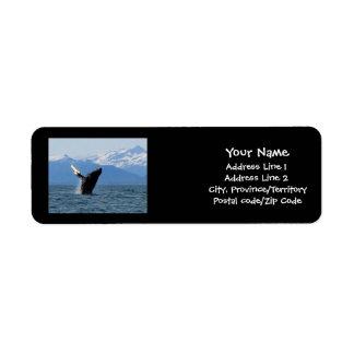 Humpback Whale Breaching Return Address Label