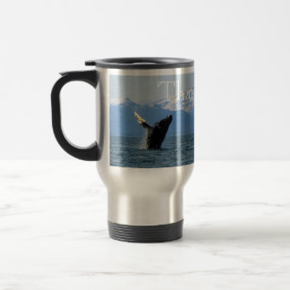 Humpback Whale Breaching; Thank You Stainless Steel Travel Mug
