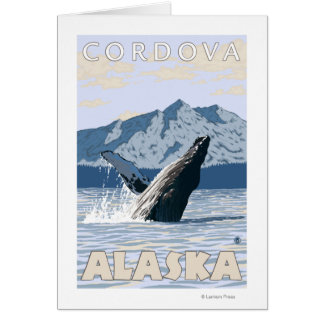 Humpback Whale - Cordova Alaska Greeting Cards