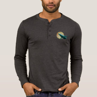 Humpback Whale Flying to The Moon Infant Long Slee T-Shirt