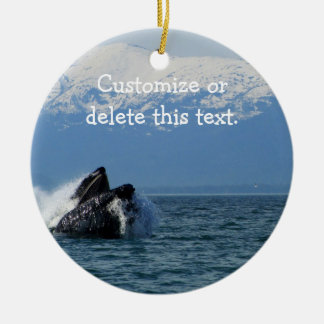 Humpback Whale Head; Customizable Christmas Ornament