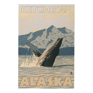 Humpback Whale - Ketchikan, Alaska Wood Wall Decor