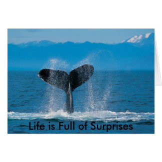 Humpback Whale, Life is Full of Surprises, Life... Greeting Card