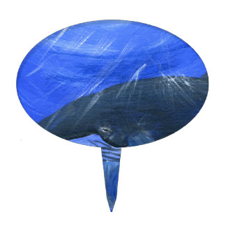 Humpback whale marine art Gunilla Wachtel Cake Topper
