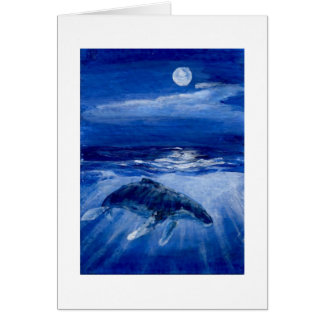 Humpback Whale Moonlight Traveller Note Card