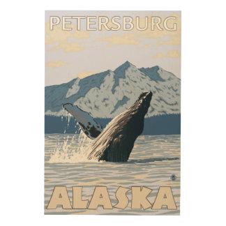 Humpback Whale - Petersburg, Alaska Wood Print