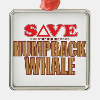 Humpback Whale Save Christmas Ornament