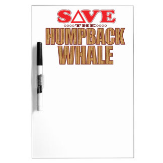 Humpback Whale Save Dry Erase Board