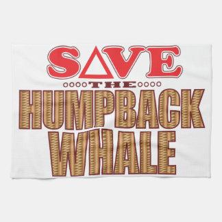 Humpback Whale Save Tea Towel
