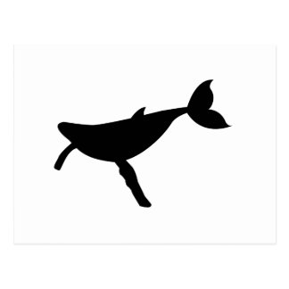 Humpback Whale Silhouette Post Card