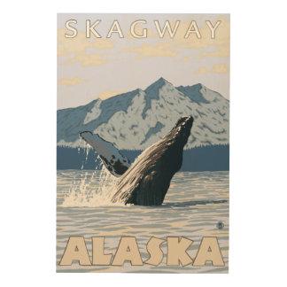 Humpback Whale - Skagway, Alaska Wood Print