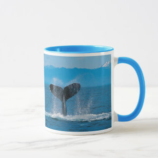 Humpback Whale Tail, Against Whaling Mug