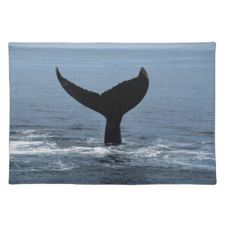 Humpback whale tail placemat