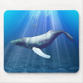 Humpback Whale Watercolor Mouse Mat