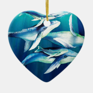 Humpback Whales Christmas Ornament