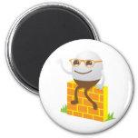 Humpty Dumpty 6 Cm Round Magnet