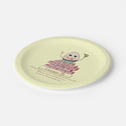Humpty Dumpty 7 Inch Paper Plate