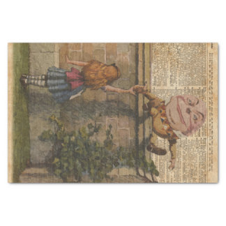 Humpty Dumpty & Alice Vintage Book Illustration Tissue Paper