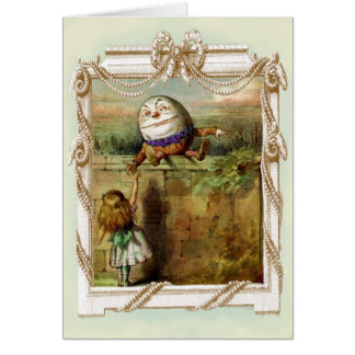 Humpty Dumpty and Alice Happy Birthday Greeting Card