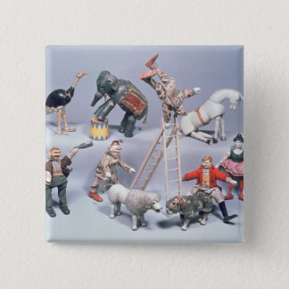 Humpty Dumpty Circus acrobats and menagerie 15 Cm Square Badge