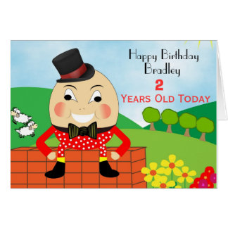 Humpty Dumpty Cute Kids Birthday Card