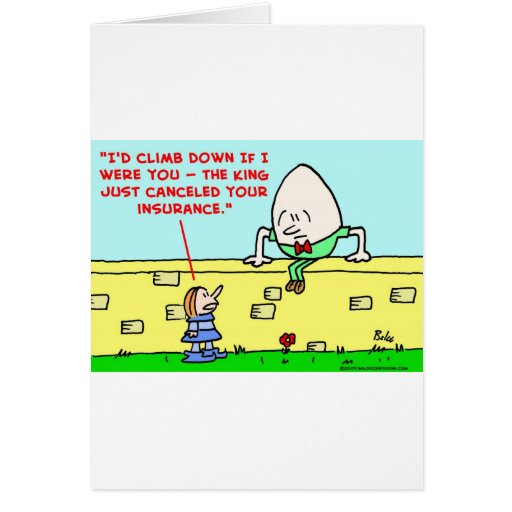 humpty dumpty insurance greeting cards