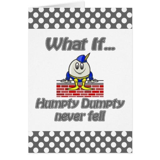 humpty dumpty never fell greeting card