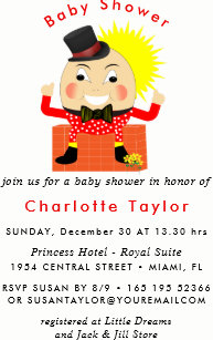 Baby shower invitations zazzle humpty dumpty nursery rhyme cute baby shower invitation filmwisefo