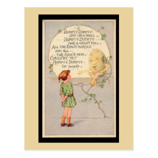 Humpty Dumpty Nursery Rhyme Postcard