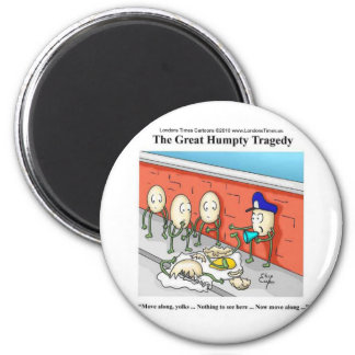 Humpty Dumpty Police Investigation Funny Gifts 6 Cm Round Magnet