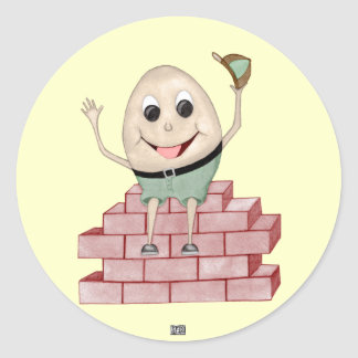 Humpty Dumpty Round Sticker