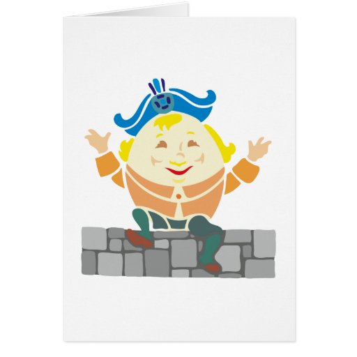 Humpty Dumpty sat on A embankment… Greeting Cards