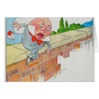 Humpty Dumpty sat on a wall Card