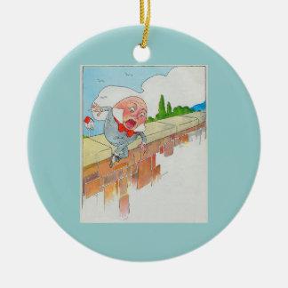 Humpty Dumpty sat on a wall Christmas Ornament