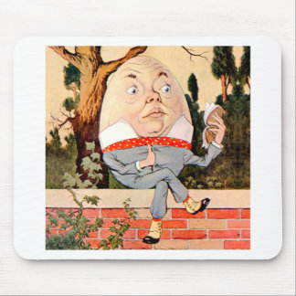 Humpty Dumpty Sat On a Wall in Wonderland Mouse Mat