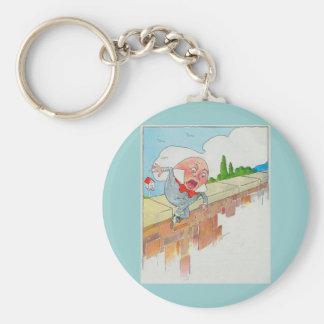Humpty Dumpty sat on a wall Key Ring
