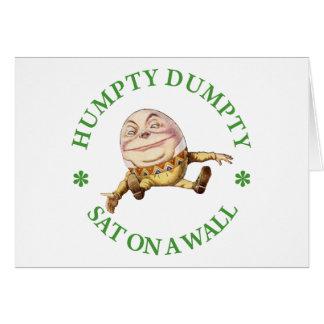 HUMPTY DUMPTY SAT ON A WALL - NURSERY RHYME CARD