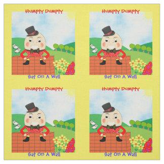 Humpty Dumpty Sat On A Wall Nursery Rhyme Design Fabric