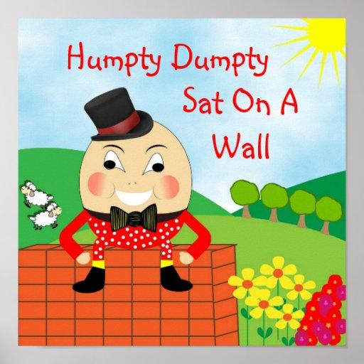 Humpty Dumpty Sat On A Wall Nursery Rhyme