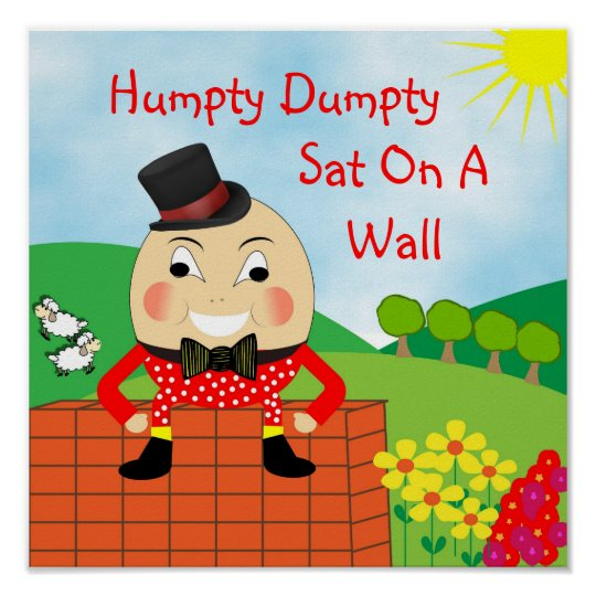 Humpty Dumpty Sat On A Wall Nursery Rhyme