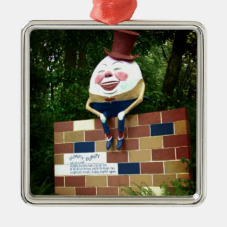 Humpty Dumpty Silver-Colored Square Decoration