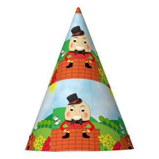 Humpty Dumpty Themed Kids Birthday Party Editable Party Hat