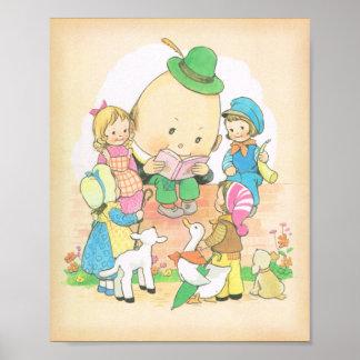 Humpty Dumpty Vintage Nursery Rhymes Mabel Luci Print
