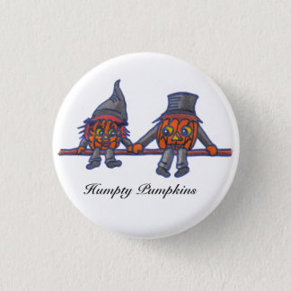 Humpty Pumpkins...button 3 Cm Round Badge