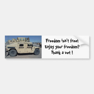 HUMVEE UNITED STATES MILITARY BUMPER STICKER