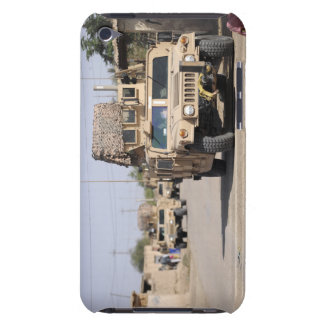 Humvee's conduct security during a patrol iPod Case-Mate case