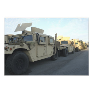 Humvees sit on the pier at Morehead City Photographic Print
