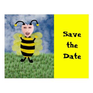 Hun E Bee Save the Date Postcard